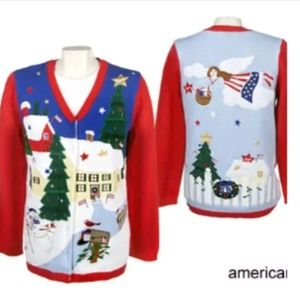 Quacker Factory 2X Christmas Holiday Sweater NEW